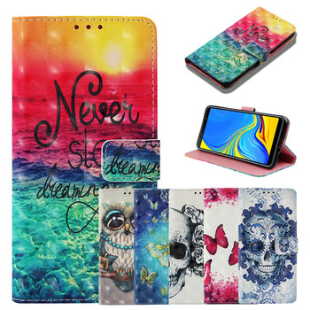 Phone Case sFor Samsung Galaxy A7 2018 Case Luxury Flip Leather Magnetic Wallet Card Cover For Samsung Galaxy A750 A7 2018 Case