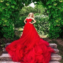 TPSAADE royal red Ball Gown wedding dress Wedding Dresses