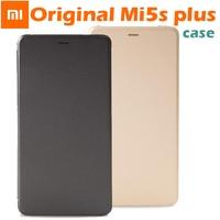 100 Original Xiaomi MI5s Plus M5s Plus Smartwake Flip Cover Case Leather Cover PC PU For