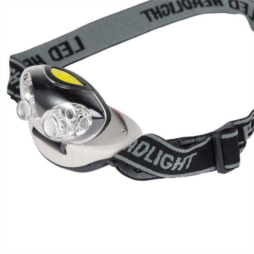 High Quality 3 Modes Bright 6 LED Head Lamp Light Torch Headlamp Headlight