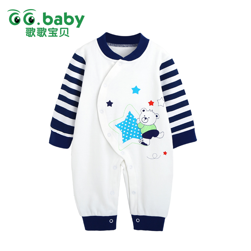Winter Newborn Bear Jumpsuit Long Sleeve Striped Baby Rompers Clothes Baby Boys Jumpsuits For Babies Animal Infant Girl Clothing unisex baby boys girls clothes long sleeve polka dot print winter baby rompers newborn baby clothing jumpsuits rompers 0 24m