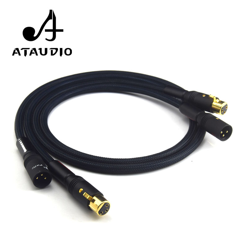 ATAUDIO Silver Plated Hifi XLR Cable Hi-end Siltech G5 Hifi 2 XLR Male to 2 XLR Female Cable