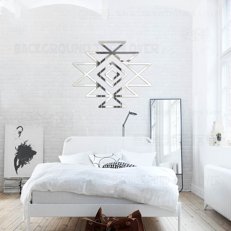 Modern Totem 3D Acrylic Mirror Wall Stickers Door Toilet Store Living Room Home Bedroom Decor Room Refrigerator Decoration R132