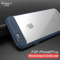 iPaky For Apple iPhone 6s Case Soft Silicone Frame Hard Transparent Back Cover For iPhone 6 6s Plus 7 7Plus 8 Plus Phone Cases