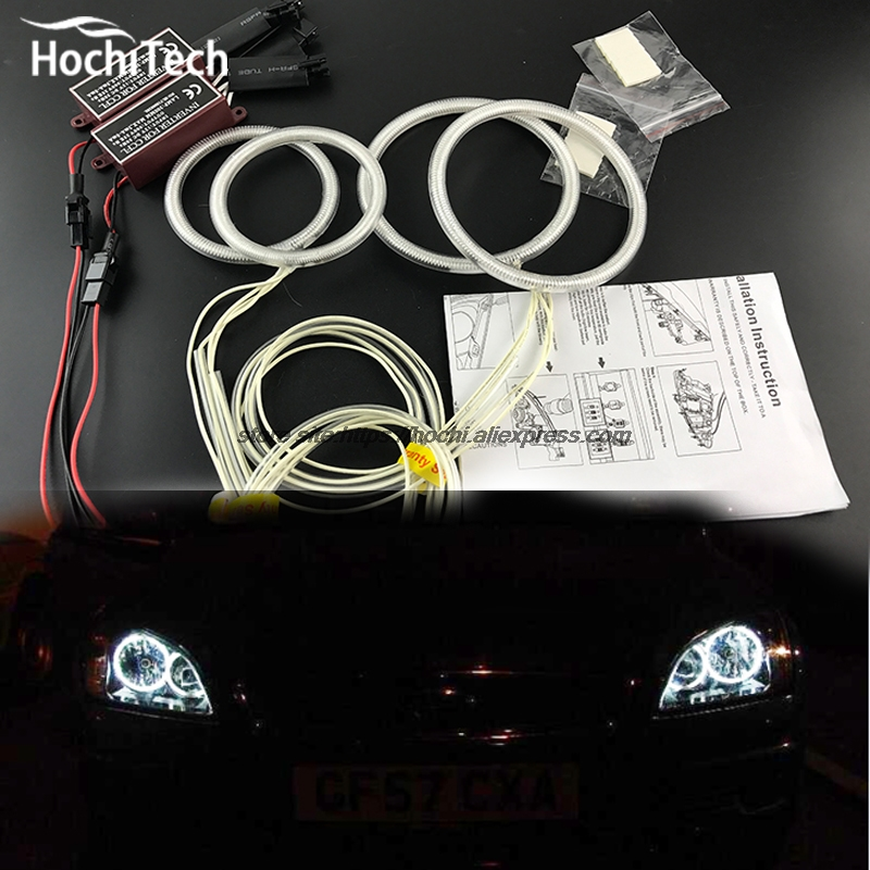 HochiTech ccfl angel eyes kit white 6000k ccfl halo rings headlight For Ford Focus II Mk2 2004 2005 2006 2007 2008 new for ford focus ii da