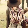 La gasa de algodón patrón geométrico Retro Vintage Women estilo bohemio bufandas larga caliente suave abrigo de la bufanda chal de invierno nuevo