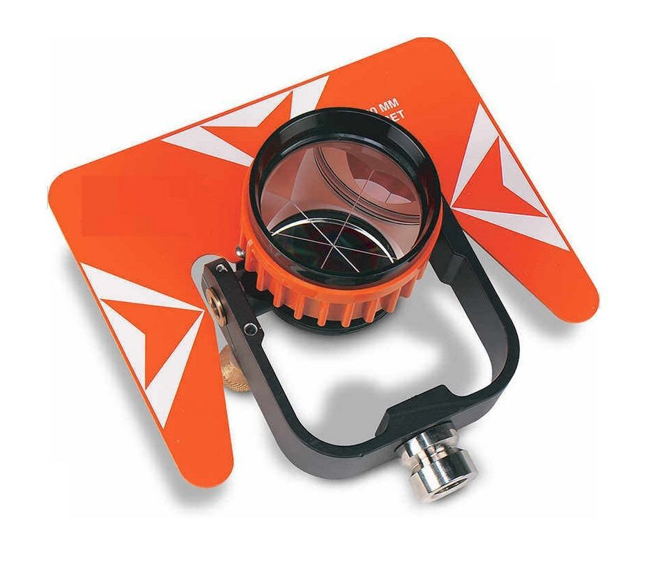 All-Metal Single Tilt Prism W/ Case For Total Stations Surveying sokkia red prism and target single tilt prism