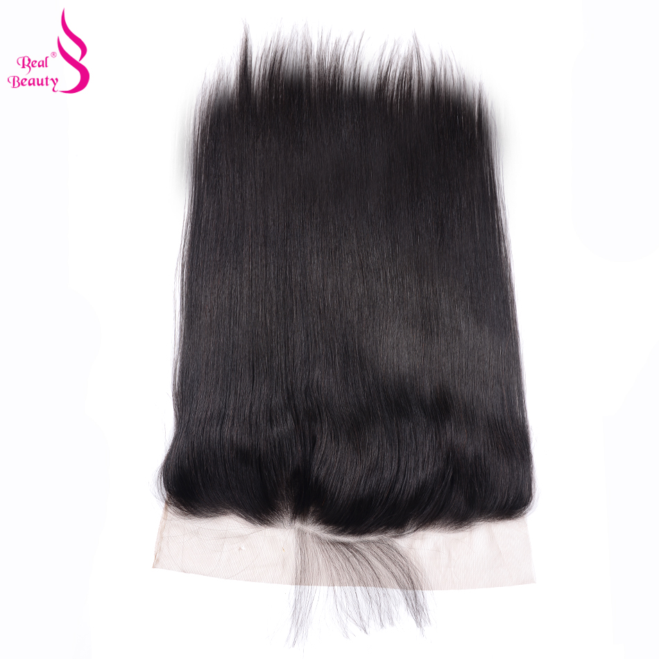 Real Beauty Brazilian Straight Lace Frontal With Baby Hair Remy Human Hair Ear To Ear Closure