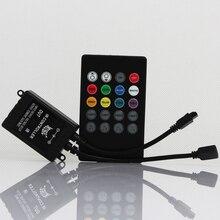 DC12V 20 Key Mini Dream color IR Music Sound Sensor Remote Controller With Control Box for 3528 5050 RGB LED Strip Light