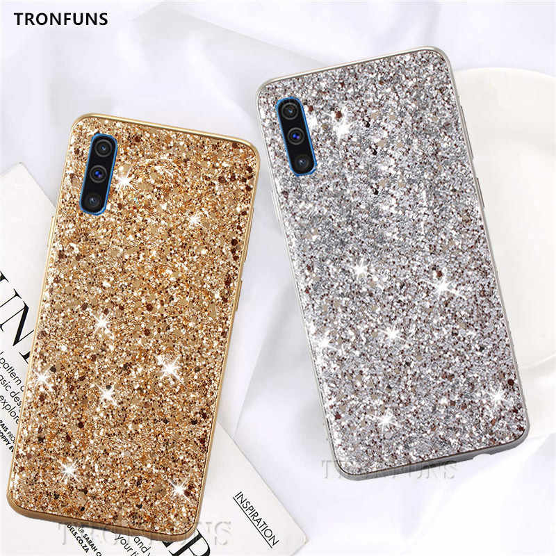 Glitter Bling Soft Case For Samsung Galaxy A30 A50 A70 A9 A7 2018 Cover For Samsung A70 SM-A705 A50 SM-A505 A30 SM-A305 Cases