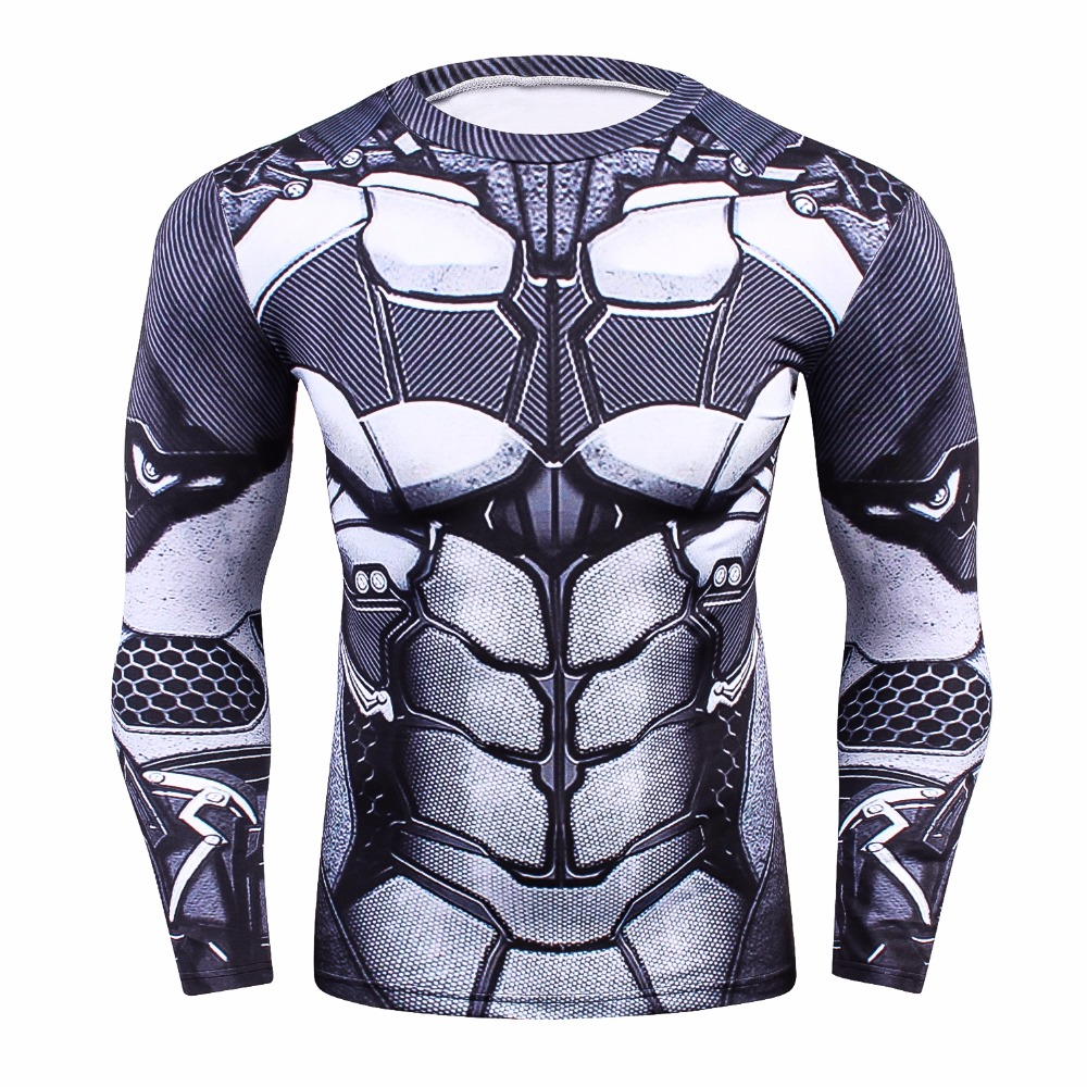 Batman 3D Printed T shirts Men Compression Shirt 2017 New Cosplay Long Sleeve Tops Male Crossfit Fitness BodyBuilding Clothing