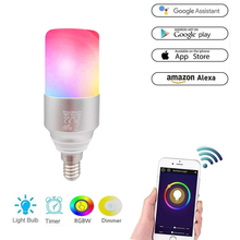 Boaz 5W E14/E27 Smart Wifi Light Bulb Remote Control Wifi Led Bulb Light RGBW Changable Alexa Echo Google Home Tuya Smart IFTTT wifi led bulb dimmer smart rgbw light bulbs remote control wifi light switch led color changing light bulb works with alexa