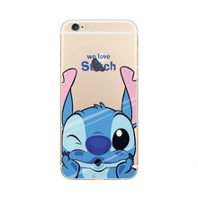 For Coque iPhone 7 8 Plus 6 6s Case Cute Stitch Daisy Duck Minnie Mouse Cartoon IPhone 5 5s SE X