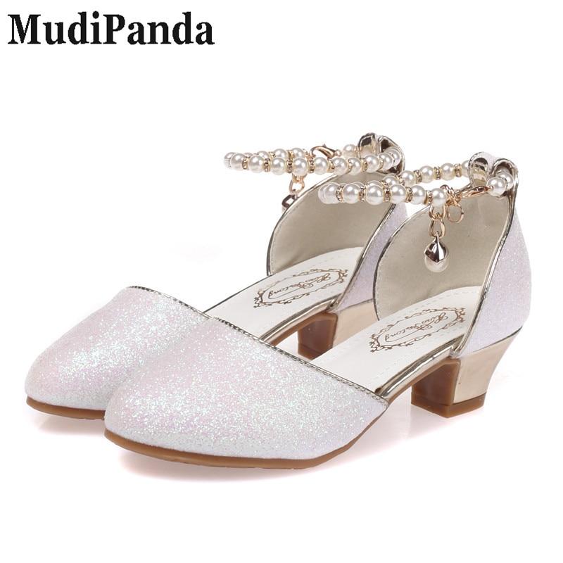 193fff3ab MudiPanda Sandalias para niñas 2018 nuevos zapatos de perlas zapatos ...
