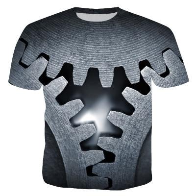 2019 3D Digital Printing Men's T-Shirt - Buy Best Seller