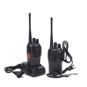 Image 2 - 2Pcs 4Pcs Baofeng BF 888S מיני מכשיר קשר UHF אינטרקום BF888S CB שתי דרך רדיו כף יד רדיו 888s + 4 אוזניות