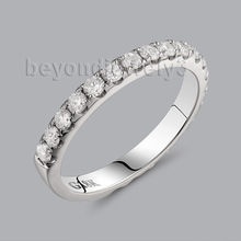 Genuine Diamond White Gold Ring Band In18kt White Gold for Engagement Jewelry WU028