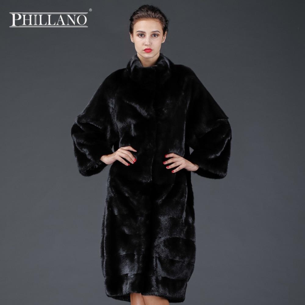 New Phillano Premium Women Winter Real Fur Coat Silný Parka Límec Sleeve Mink Skandinávie Dánsko NAFA YG14041-105