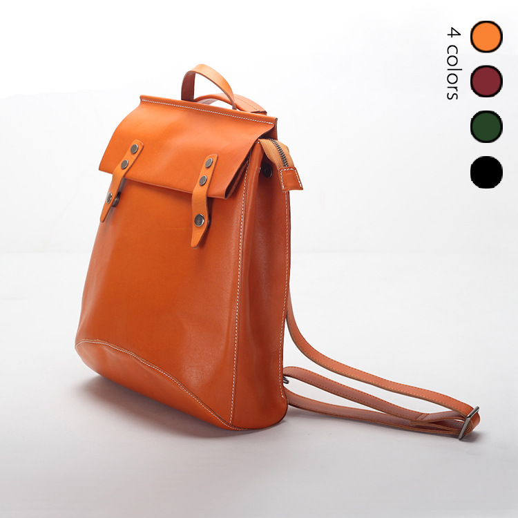 2018 Fashion Women Backpacks Real Leather Backpack Shoulder Bags Daypack for Women Female Rucksack Feminine Mochila-in Backpacks from Luggage & Bags    1