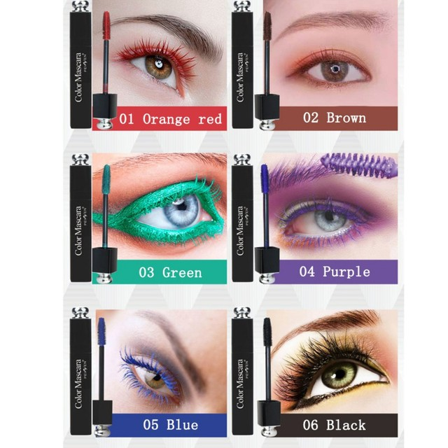317fa8b4482 Makeup Eyes Colorful Mascara Volume Express False Eyelashes Make Up  Multicolor Mascara Waterproof Cosmetics