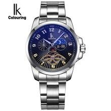 IK Colouring 2017 New Automatic Watch Men Multifunction Luminous Analog Fashion Wristwatch Casual Business Mechanical Men Watch