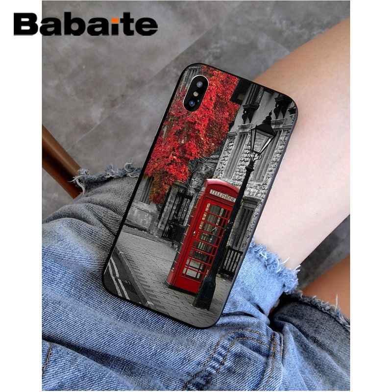 Babaite style london bus england telephone vintage british Phone Case for iPhone 8 7 6 6S Plus X XS MAX 5 5S SE XR Mobile Cases