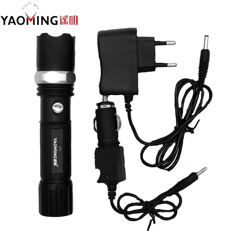 YAOMING Portable Flashlight XPE LED 600 Lumen Waterproof Rechargeable Focus Adjustable Police Light Torch Lamp Use 18650 BatteryYAOMING Portable Flashlight XPE LED 600 Lumen Waterproof Rechargeable Focus Adjustable Police Light Torch Lamp Use 18650 Battery