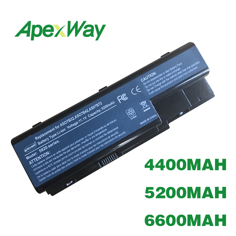 ApexWay Battery For Acer Extensa 7230 7630 7630G TravelMate 7230 7330 7530 7530G 7730 7730G AS07B41 AS07B42