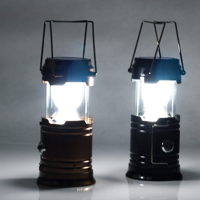 LED camping Lantern Bivouac Hiking Camping Night light outdoor tent double-headed light contain batteries Dropshipping wholesale