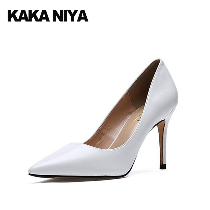 Black Pointed Toe Classic Shoes Dress Sexy White High Heels 2017 Size 4 34 Thin Formal Ladies Pumps Discount China New Autumn big size 40 41 42 women pumps 11 cm thin heels fashion beautiful pointy toe spell color sexy shoes discount sale free shipping