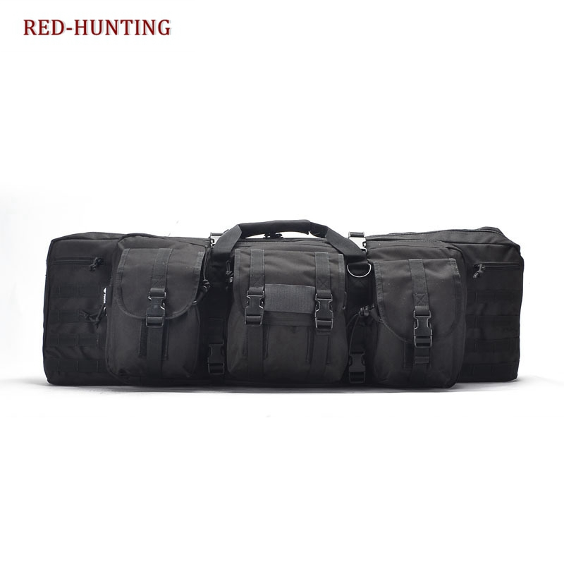 120cm Tactical Padded Weapon Case Holds Rifle with Optics Two Pistols and Ammo Molle Rifle Bag