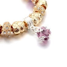 Szelam Women'S Fashion Jewelry Pink Crystal Bracelet For Women Gold Bracelets Bangles Handmade Jewelry Pulseras Sbr150331