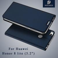 Huawei Honor 8 Lite Case Dux Ducis Leather Flip Case Huawei Honor 8 Case Wallet Cover