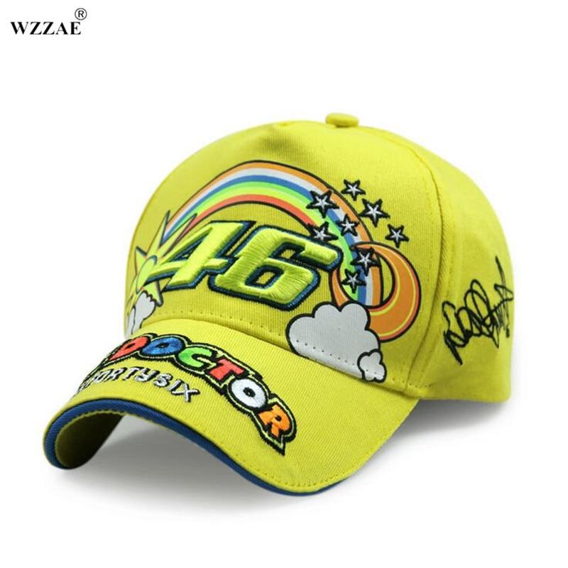 Prix pour WZZAE VR46 Snapback Chapeaux Moto GP Butin Rossi 46 Moto Baseball Caps Racing Cap Hommes os camionneur Broderie Casquette