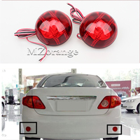 DC12V Reflector LED Back Tail Rear Bumper Light Brake Lamp Fog Light For Toyota Corolla 2007