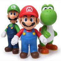 Free Shipping Super Mario Bros Mario Yoshi Luigi PVC Action Figure Collection Model Toys Dolls 3pcs