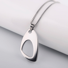 2015 Hot Sale New Jewelry Simple Necklaces & Pendants Silver Color Pendants Unisex Tungsten Pendants Free Shipping