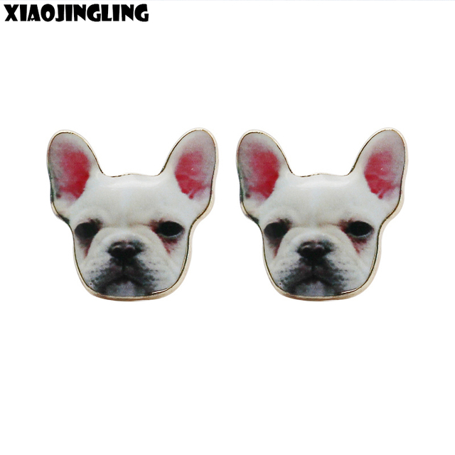 Xiaojingling Top Quality French Bulldog Earrings Puppy Dog Stud Earring Fashion Anti Allergic For