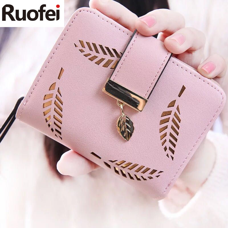 2017 Designer Famous Brand Luxury Women's Wallet Purse Female Small wallet perse Portomonee portfolio lady short carteras