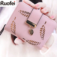 2019 Designer Famous Brand Luxury Women's Wallet Purse Female Small wallet perse Portomonee portfolio lady short carteras