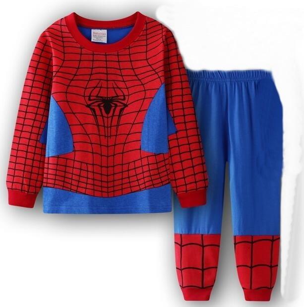 Kids All in One Boys Girls Fleece Superman Children Pyjamas Age 3-8 Years Gift