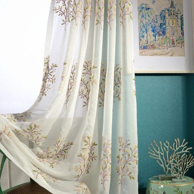 Modernen Minimalistischen Besticktem Tüll Vorhänge Für Schlafzimmer ...