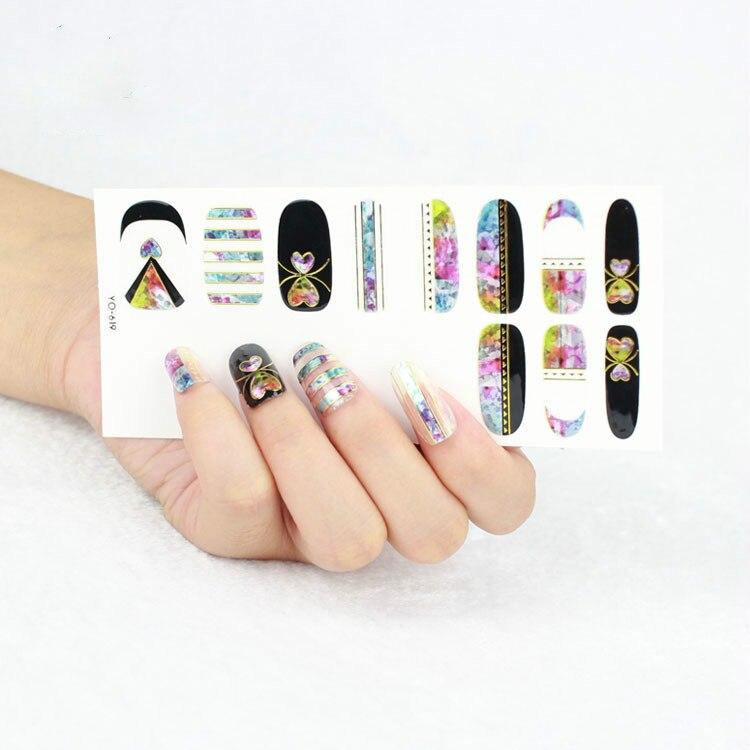 Wholesale 200packs Mirror Effect Fancy Galaxy Nail Wraps Waterproof ...