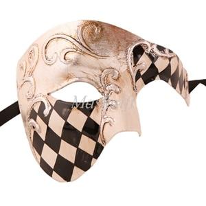 Лидер продаж черные туфли высокого качества красные, синие фиолетового и зеленого цветов, цвета: золотистый, серебристый Венецианская маска Halloween Пластик маскарадные маски - Цвет: black silver checked