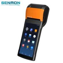 Sunmi v2 android 7.1 handheld portátil 4g inteligente sistema terminal móvel da posição com 58mm impressora térmica para o recibo do bilhete do ônibus