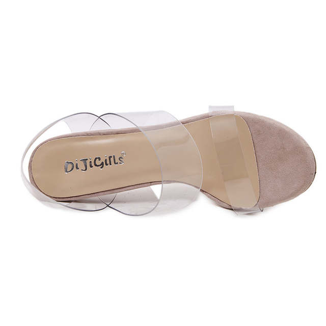 20117df98e7c placeholder DiJiGirls Woman Sandals Clear Heels Transparent shoes female  Crystal sandal High Heels Open Toe Thick Heel