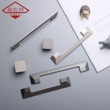 AOBT Cabinet Door Nordic Modern Sliver Minimalist Wardrobe Handle Pulls Drawer Single Hole Zinc Alloy Bookcase Hardware