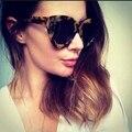 Eoome KW en cualquier momento el caso original diseñador de la marca de diseño clásico gafas de sol de acetato de color leopardo lente verde forma de la mariposa