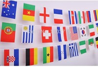 New style 100 pcs Countries String Flag 25M 14x21cm International World Banner party decoration Customer order 1 country