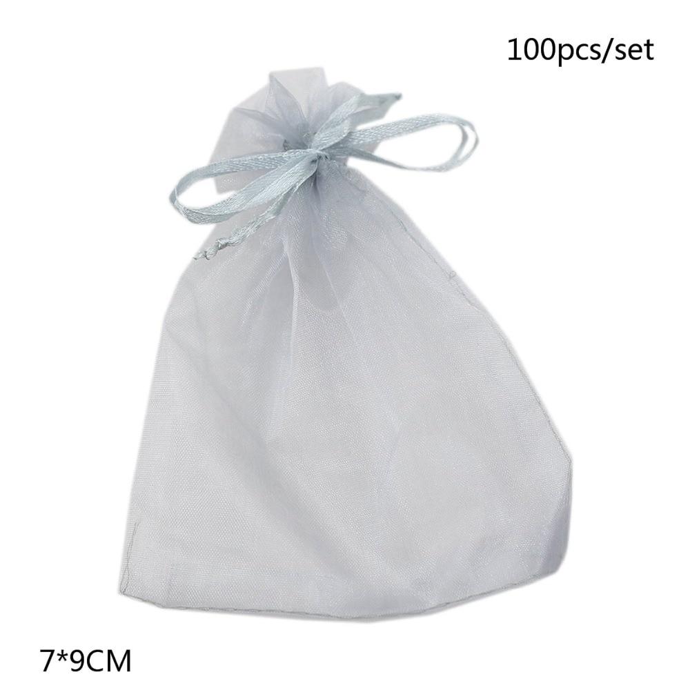 Mareya Trade - 100pcs Organza Drawstring Gift Bags Wedding Favour ...